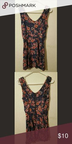 Floral dress Very good condition. Blue, pink, and purple floral dress. Dresses Midi