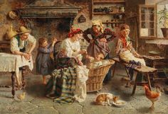 View A happy family by Eugenio Zampighi on artnet. Browse upcoming and past auction lots by Eugenio Zampighi. Italian Painters, Italian Artist, Classic Paintings, Beautiful Paintings, High Renaissance, Family Painting, Puzzle Art, Impressionist Artists, Western Art