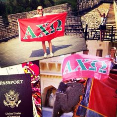 We have ΑΧΩ pride wherever we go! #AXOsummeradventures #China #India