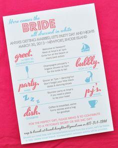 Custom bachelorette weekend agenda! Keep your girls in line and on ...