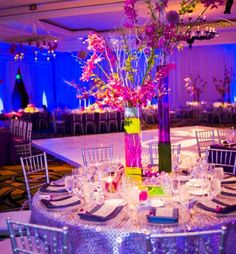 and Fuschia Wedding Theme  turquoise wedding reception decorations ...