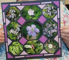 Scrapbooking layout using Octagons Stencil