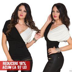 Bluza Carina White&Cream >> Click pe poza pentru a intra pe site.Bluza cu maneci scurte, lejere, ce-ti va da un aer romantic. #VinereaNeagra #BlackFriday #Reduceri #fashion #BlackFridayFashion #ReduceriBlackFriday Black Friday, One Shoulder, Romantic, Tops, Women, Fashion, Moda, Fashion Styles, Shell Tops