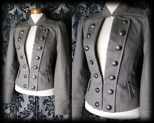Gothic Khaki Fitted PARAMOUR Jacket Coat 12 14 Victorian Military Steampunk