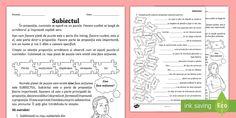 Predicatul - Fișă de lucru Curriculum, Bullet Journal, Cl, Resume, Teaching Plan
