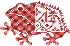 Red frog cross stitch (refrog cr)