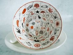 Rare Fortune Telling Tea Cups and Saucers  by SwirlingOrange11