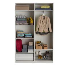 elvarli 2 section shelving unit white furniture storage dressing room and storage. Black Bedroom Furniture Sets. Home Design Ideas
