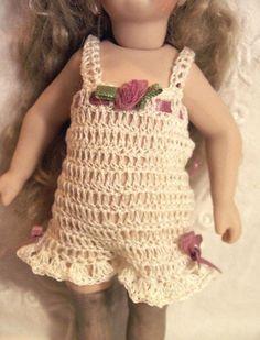 "Doll CHEMISE PANTALETTES for Miniature Bisque 7-8.5"" Mignonette Doll…"