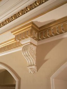 """Corbels, Dentil Molding, Trim......apply any finish you want to, for a """"customized"""" look.  Available through www.Fratta.com"""