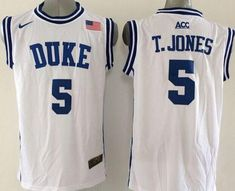 67133f3e2bf Buy Blue Devils Tyus Jones White Basketball New Stitched NCAA Jersey Super  Deals from Reliable Blue Devils Tyus Jones White Basketball New Stitched  NCAA ...