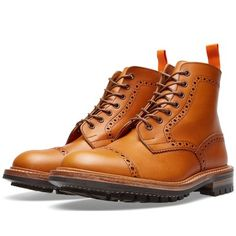 END. x Tricker's Commando Sole Toe Cap Boot (Acorn Antique Leather)