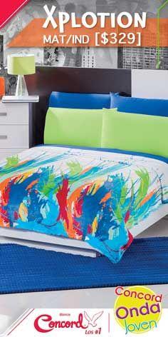 Atrévete con esta explosión de color que se verá increíble en tu recámara #TodosSomosConcord  #Colores #ColchasConcord #LosNúmero1 Colchas Concord, Furniture, Home Decor, Wave, Happy, Colors, Decoration Home, Room Decor, Home Furnishings
