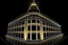 Palacio de Hierro Zócalo / Proyecto arquitectónico: Paul Dubois / Proyecto de iluminación: Noriegga iluminadores / Ubicación: Centro histórico, ciudad de México, México / Año: 2010
