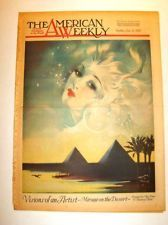 AMERICAN WEEKLY - 1/31/1937 Mirage on the Desert - HENRY CLIVE Visions of artist
