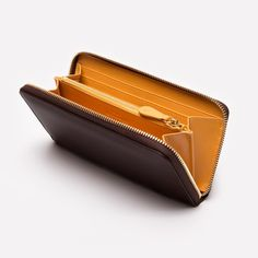 Ettinger London - Luxury Leather Goods - Bridle Hide Nut Large Zip-Around Purse