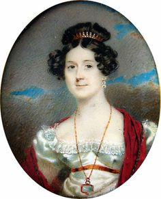 Portrait miniature of a young lady by James Heath Millington