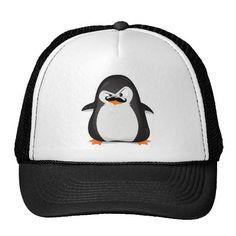 Cute Black  White Penguin And  Funny Mustache Trucker Hats http://www.zazzle.com/cute_black_white_penguin_and_funny_mustache_hat-148093546122565289?rf=238675983783752015