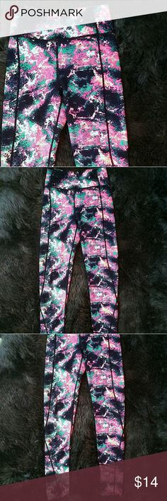 Compression Tights Activewear Leggings MAJ Awesome space/Tie Dye print Activewear leggings by My Amelia James.  These are great for holding everything in.  If you love compression tights, these are for you!  Because they are meant to be tight, I think they run a little small.  Great for yoga, running.... anything you can think of.  Yoga style wastband.  Perfect condition Size Small/Medium My Amelia James Pants Leggings
