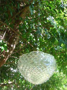 Storing Up My Treasures: Glass Shade Garden Lantern