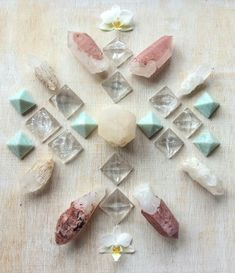 Hematoid Quartz, Candle Quartz, Amazonite and Orchids To the one who knows and yet still loves I bow °Woodlights Woudlicht