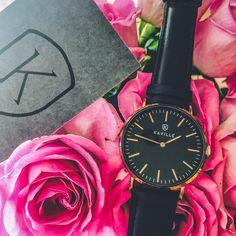 Pretty in Black 🖤 Daniel Wellington, Pretty, Leather, Crafts, Accessories, Collection, Black, Fashion, Moda