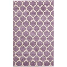 Features:  -Construction: Machine made.  -Material: Polypropylene.  -Origin: Turkey.  -Collection: Trellis.  -Easy to clean.  -Stain resistant.  Technique: -Machine woven.  Primary Color: -Purple.  Ty