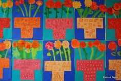 Mexican Marigolds for Day of the Dead 1st 2nd grade still-life elementary art lesson