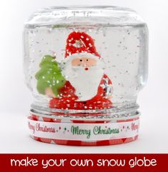 Snowglobes have always had that magical feeling, shaking them constantly to watch the glitter fall. My youngest daughter and I made this snow globe last week together, it was so much fun and in particular she loved to see how it is made.What you will needJar – I used a small mason jar…