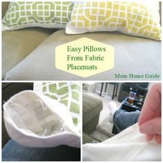 DIY Placemat Pillows-from The Everyday Home