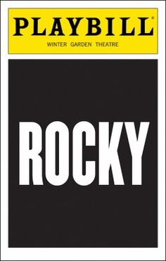 Rocky Playbill - Opening Night