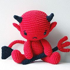 Baby Devil amigurumi crochet pattern by Pepika