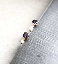Blue Lolite Stud Earrings