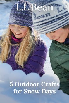 Winter is the perfect time to come together for fun activities – indoors and out. Here are 5 ideas to help you and your family create, build and play all season long. Outdoor Crafts, Outdoor Fun, Fun Activities, Crochet Hats, Outdoors, Snow, Seasons, Play, Create