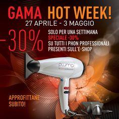 #Gamahotweek 30% di sconto su tutti i phon professionali nel nostro e-shop http://www.gamaprofessional.it/Shop approfittatene subito, la promozione dura solo fino a domenica!