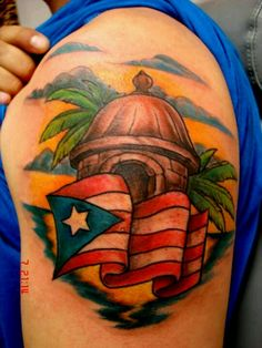 Beautiful puerto rico tat