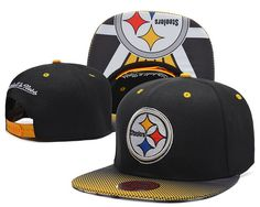 Cheap Pittsburgh Steelers NFL Mitchell And Ness Snapback Hats Leather  Brim 808d36fa6