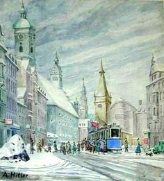 Art by Adolf Hitler. The founder and leader of the Nazi Party and the most influential voice in the organization, implementation and execution of the Holocaust.