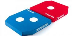 Pizza Box Concept - Domino's UK recently debuted a new pizza box concept that is designed to look just like its iconic red and blue logo. The new pizza box desig. Pizza Hut, New Pizza, Dominos Pizza, Pizza Box Design, Creative Pizza, Pizza Boxes, Food Packaging Design, Packaging Ideas, Canning