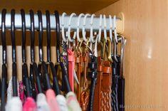 Hometalk :: Easiest Way to Organize Belts
