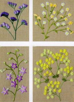 """Preciosas cosas del corazón: la lana bordados, """"Flores en mi jardín"""""""