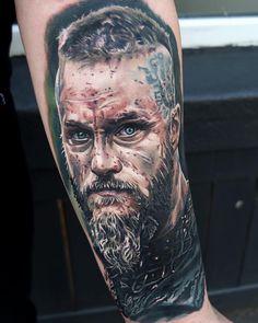 Ragnar by @jordancroketattoo . #best #tattooartist #tattooworldpub #tattoo #like4like #likeforfollow #follow4follow #followbackalways #follow4followback