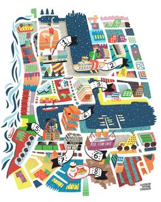 Ink Publishing and Brussels Airlines magazine, commissioned french illustrator Antoine Corbineau