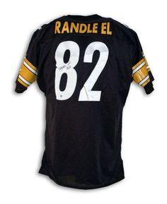 058561ee0 Antwaan Randle El Pittsburgh Steelers Autographed Black Throwback Jersey