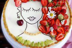 Beerentarte face cake