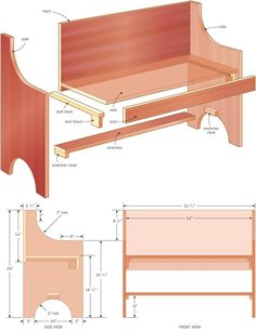Rustic and Simple Bench Plan - Woodwork City