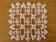 AlenAleaDesign: Tatted Modular Doily pattern on Etsy #tatting #lace #doily…