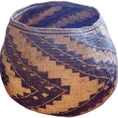 1870-1880 Huge Pit River/Wintu Large Northern California Storage Basket