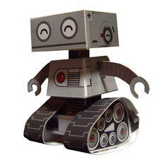Papercraft postkaart robot