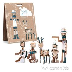 Mixit! by Diego Lizán – It is a toy, artwork and decorative item. Build the infinite imaginary characters from more than 40 different pieces that make up the briefcase